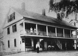 Douglas, Massachusetts - Jenckes Store as it appeared in the 1800s