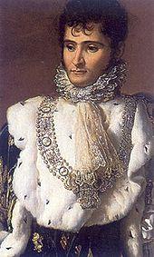 Jérôme Bonaparte als König des Königreichs Westphalen, Porträt von François Gérard. Jérômes Unterschrift: (Quelle: Wikimedia)