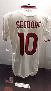 Seedorf s number 10 Milan jersey in the San Siro museum 79b3bba3792ce