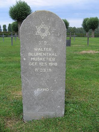 German War Graves Commission - First World War grave at Laventie German Military Cemetery, France