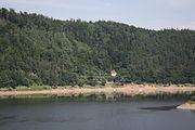 Jezioro Pilchowickie widziane z zapory wodnej (1).JPG