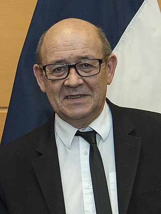 Jean-Yves Le Drian - Image: Jim Mattis and Jean Yves Le Drian, NATO Headquarters, Brussels, Feb. 15, 2017 (cropped)
