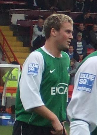 Joel Byrom - Byrom playing for Northwich Victoria