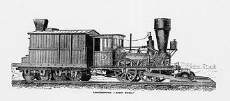 John Bull (locomotive) - Image: John Bull as it appeared in 1877