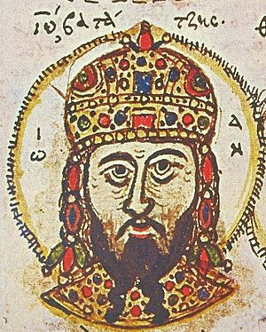John III Doukas Vatatzes - Portrait of John III from a 15th-century manuscript