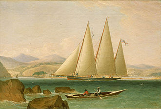 Kingston Harbour - Image: John Lynn A Bermudian Schooner Yacht Offshore