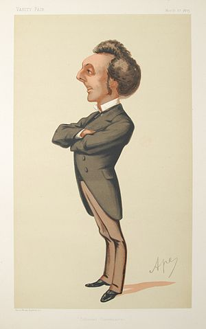 John Pope Hennessy - Caricature by Ape published in Vanity Fair in 1875