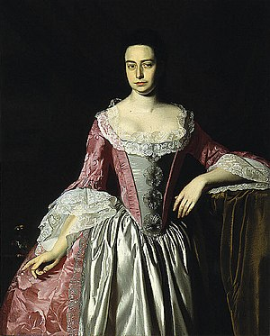 Eunice Dennie Burr - This portrait of Eunice Dennie Burr was painted by John Singleton Copley circa 1758-1760, and is now at the Saint Louis Art Museum; it is titled Portrait of Eunice Dennie Burr.