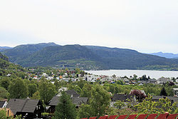 View of the town of Jørpeland