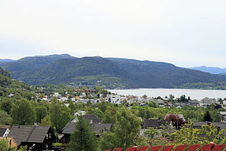 Strand, Norway - View of the town of Jørpeland