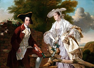 Peter Perez Burdett - Peter and his wife Hannah by Joseph Wright of Derby.