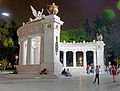 Juarez monument, Mexico City, at night from side.jpg