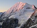 Königspitze bei Sonnenaufgang, gesehen vom Hintergrat (Ortler)