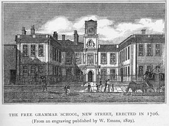 King Edward's School, Birmingham - The school on New Street 1731-1834
