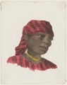 KITLV - 36B230 - Borret, Arnoldus - Woman with headscarf and beads - Water colour - Circa 1880.tif
