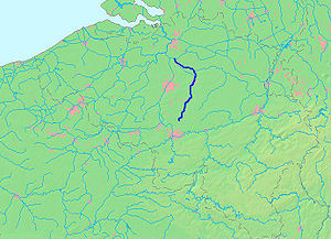 Dyle (river) - Location of the Dijle
