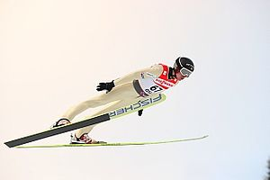 Kamil Stoch - Training jump in Oslo, Norway, 2011