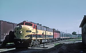 Southern Belle (KCS train) - The Southern Belle at Pittsburg, KS on July 30, 1967
