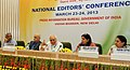 Kapil Sibal addressing the National Editors' Conference organised by Press Information Bureau, in New Delhi. The Secretary (Telecommunications), Shri R. Chandrashekhar, the Principal Director General (M&C).jpg