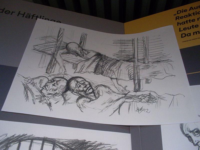 File:Karikaturen von Häftlingen des Stasigefängnis Bautzen II Weigangstraße 8a (2).JPG