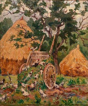 Edvard Diriks - Image: Karl Edvard Diriks Høner, Frankrike (1914)