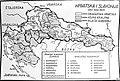 Karta Hrvatska i Slavonija oko 1820. (građanska Hrvatska, Vojna Krajina, Riječki gubernij).jpg