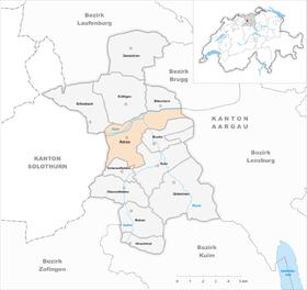Karte Gemeinde Aarau 2010
