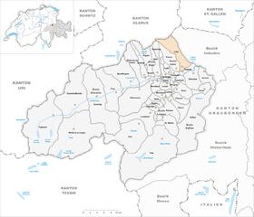 Karte von Laax