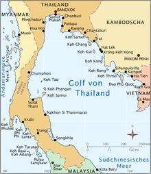 thailand karte süden Golf von Thailand – Wikipedia thailand karte süden