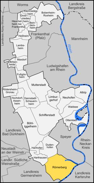 Römerberg - Image: Karte Römerberg