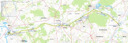 Karte Wesel-Datteln-Kanal