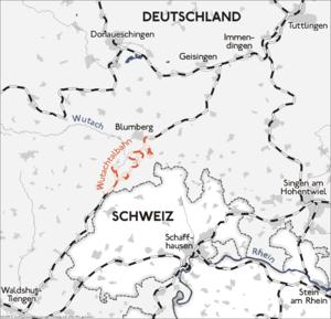 Wutach Valley Railway - Image: Karte wutachtalbahn 2