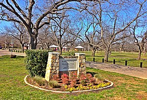 Mansfield, Texas - Katherine Rose Park and its pecan groves in late winter