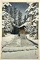 Kawase Hasui-No Series-Konjikido in Snow Hiraizumi.jpg