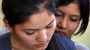 Women in Asia - Two young women in Kazakhstan