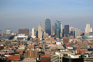 History of the Kansas City metropolitan area - Kansas City, Missouri Skyline as seen from the Liberty Memorial.