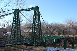 Bridges of Keeseville - Keeseville Suspension Bridge, built 1888