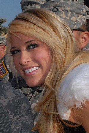 Kelly Kelly - Kelly during the Tribute to the Troops  show in December 2008