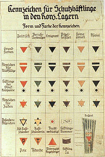 Nazi concentration camp badge