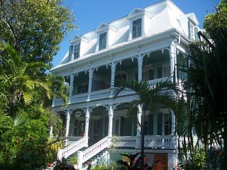 Dr. Joseph Y. Porter House historic home in Key West, Florida, USA