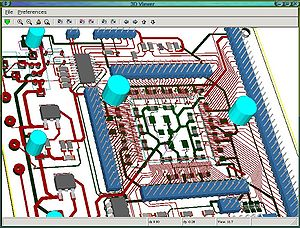 3D View using KiCAD PCBnew (Wings 3D based).