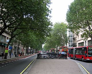 major road in central London, England