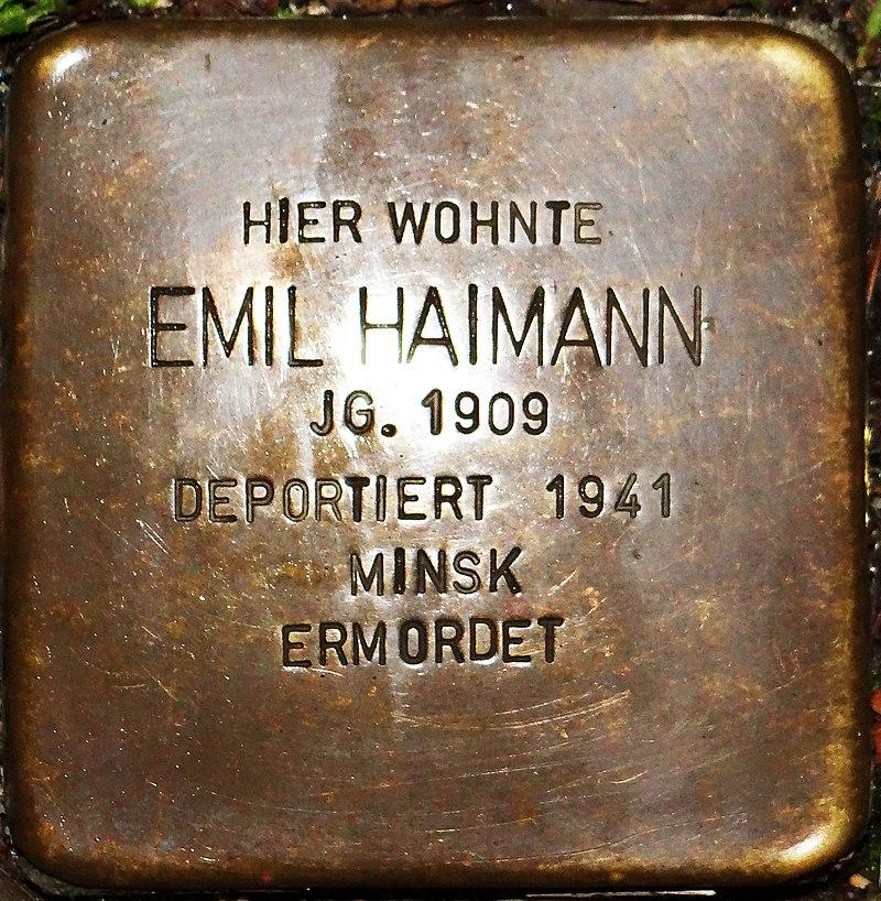 Kirchberg im Hunsrück Stolperstein Kappeler Straße 3 Emil Haimann.jpg