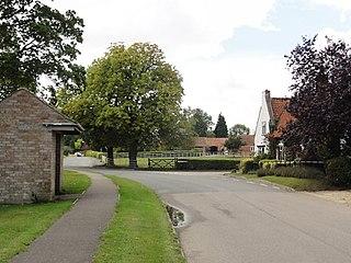 Kirkby Underwood village in South Kesteven
