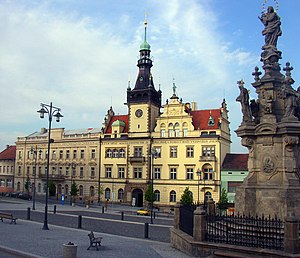 City Hall and Baroque Marian Column in Kladno