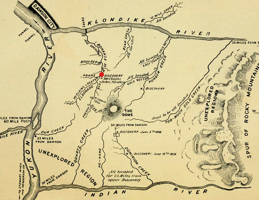 Klondike Gold Rush Wikipedia - Map of us gold migration