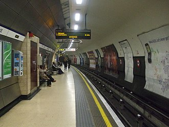 Knightsbridge tube station - Image: Knightsbridge station eastbound look west