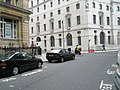 Knowledge-seeking scooter rider at Finsbury Circus - geograph.org.uk - 893219.jpg