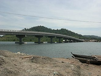 Koh Kong Province - Koh Kong Bridge is the second longest bridge in Cambodia, and was the longest until the completion of Neak Loeung Bridge in April 2015.