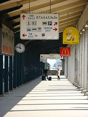 Ljubljana railway station - Image: Kolodvor Ljubljana